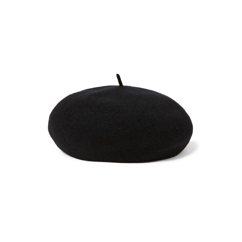"""【RADIALL】(ラディアル)""""TONE BERET""""ウールベレー帽【BLACK】【送料無料】"""