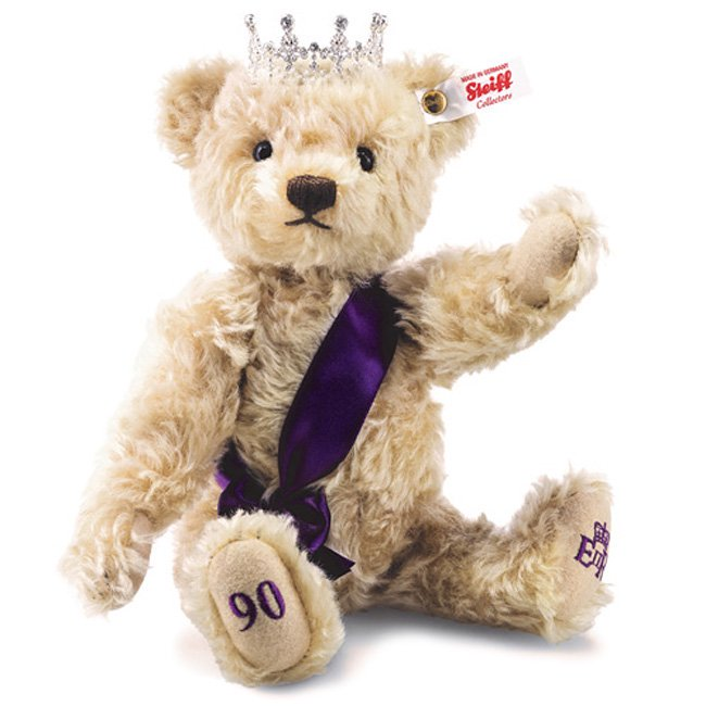 シュタイフ 【2016年新作】エリザベス女王 90thバースデーテディベア 28cm 【送料無料】