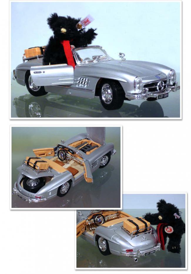 シュタイフ テディベアとメルセデスベンツ 300SL 1957モデル 9cm EAN681257 【送料無料】