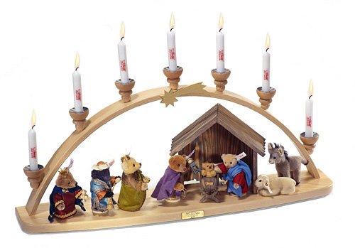 シュタイフ クリスマス シュヴィップボーゲン (アーチとテディベア) 6cm、10cm EAN037283 【送料無料】