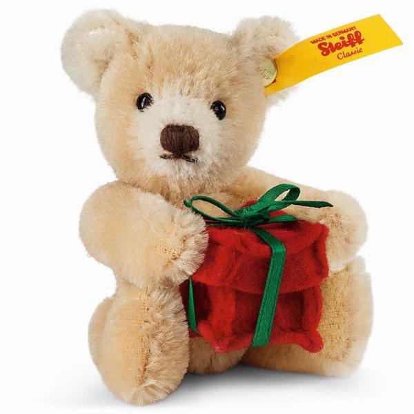 シュタイフ【2015年新作】 ミニチュアテディベア プレゼント 10cm EAN028892 【送料無料】