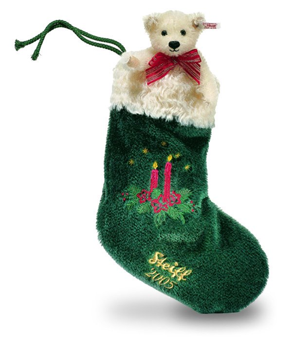 シュタイフ クリスマス ストッキングテディベア 2005 14cm、30cm EAN037641 【送料無料】