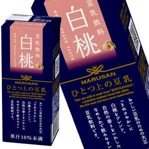 【8月4日出荷開始】ひとつ上の豆乳 白桃 200ml紙パック×24本【2ケース以上購入で送料無料】