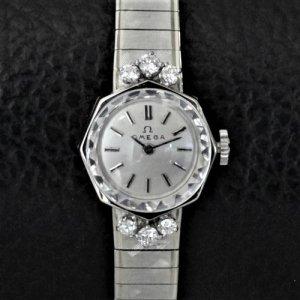 オメガ ベルト一体型 ダイヤ時計
