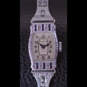 ブローバ アールデコ 14金 時計