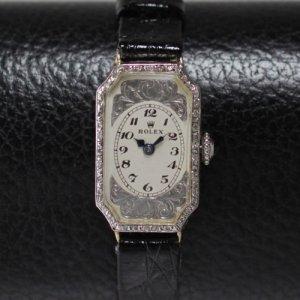 ロレックス アールデコ 9金 レディースアンティーク腕時計
