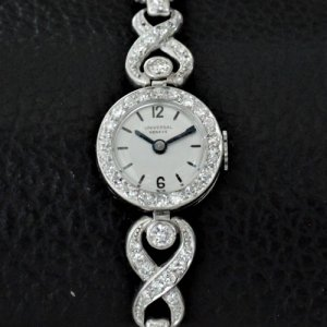 プラチナ・ダイヤ ユニバーサル レディースアンティーク 腕時計