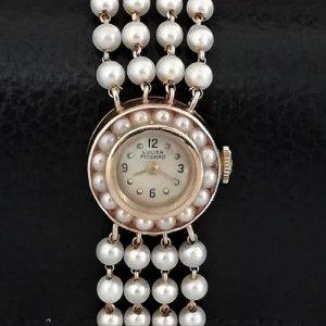 ルシアンピカール ベルトもパールウォッチ レディースアンティーク腕時計