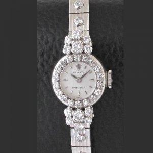 ロレックス ダイヤモンド ベルト一体型 レディース アンティーク時計