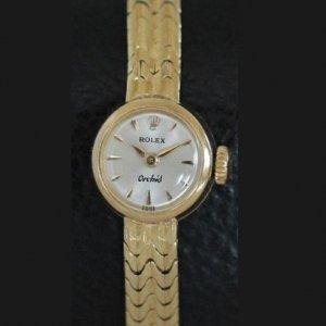 ロレックスのオーキッド Orchid 18金 イエローゴールド レディースアンティーク時計