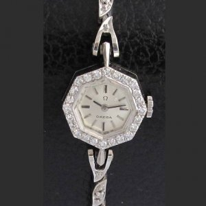 オメガ ダイヤブレス オクタゴン(8角形)レディースアンティーク時計