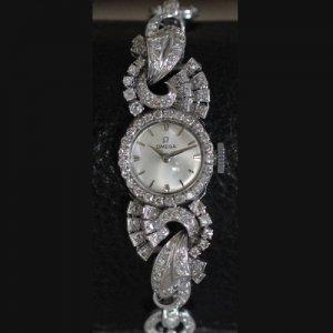 omega  オメガ ダイヤウォッチ レディースアンティーク腕時計