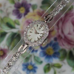オメガ ダイヤブレス オーバル レディースアンティーク腕時計