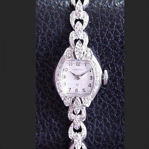 ハミルトン ダイヤブレス レディースアンティーク腕時計