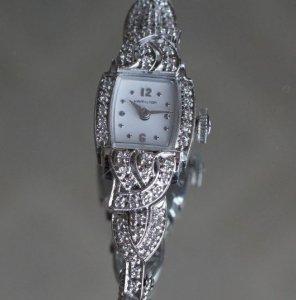 ハミルトン 繊細なダイヤブレス アンティーク