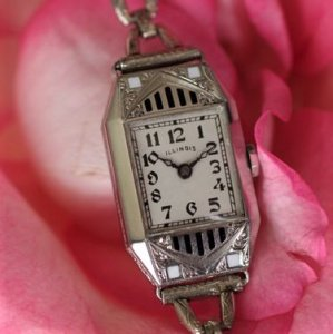 イリノイ アールデコ時計 1920年代 レディースアンティークウォッチ