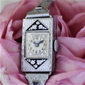 ブローバ  1920年代  アールデコ時計 BOX付き レディースアンティーク