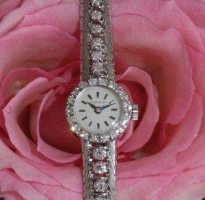 モバード ベルト一体型、18金ダイヤブレス時計
