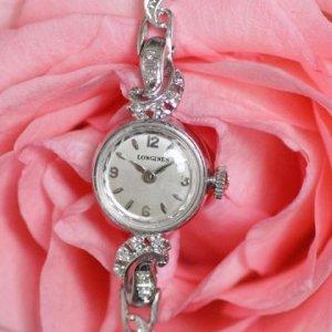 アンティーク ウオッチ ロンジン ダイヤブレス レディースアンティーク腕時計