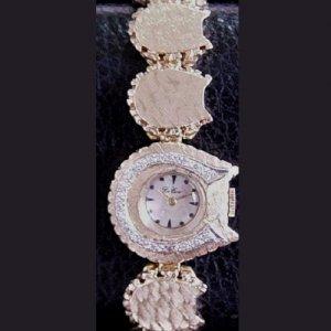 ネコのウオッチ 金無垢ダイヤ De Bov レディースアンティーク腕時計