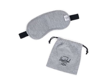 TRAVEL / EYE MASK - Heather Grey, Navy/Red