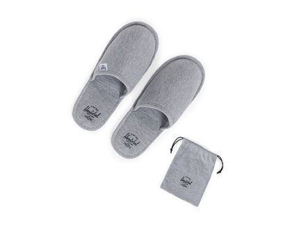 TRAVEL / SLIPPERS - Heather Grey, Navy/Red
