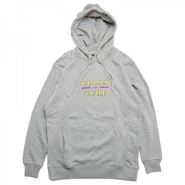 COOLS CLUB HOOD SWEATSHIRT - Grey Melange