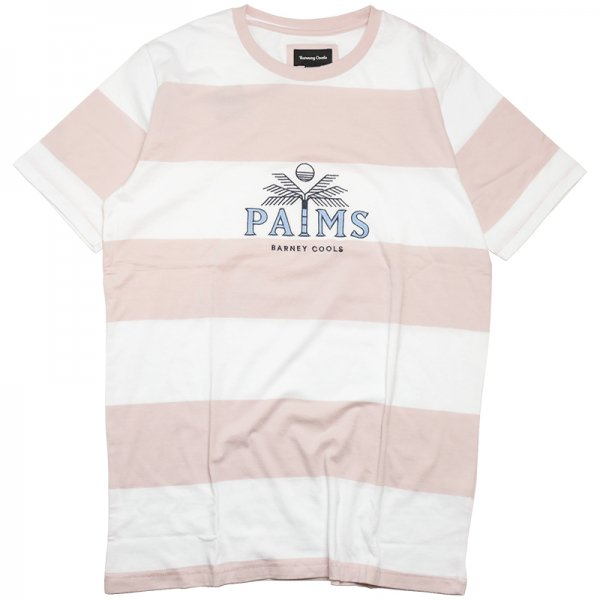 PALMS TEE - Pink Stripe