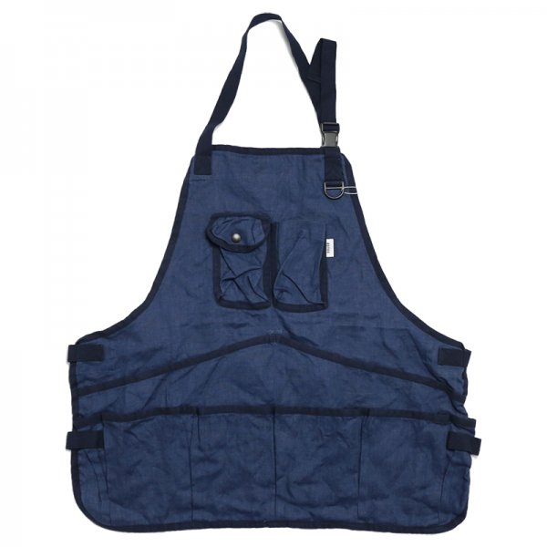 LINEN APRON - Ink Blue