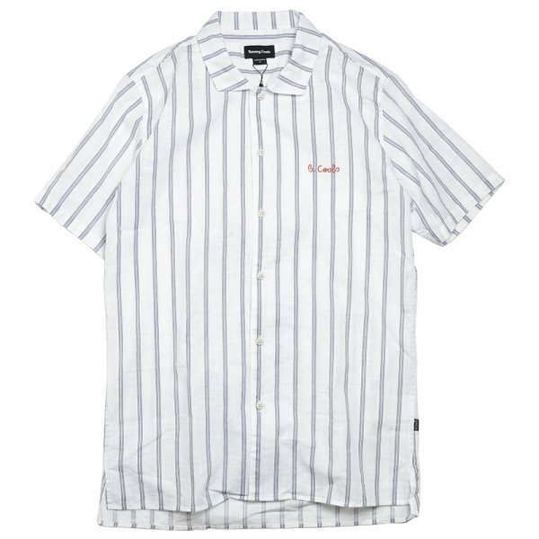 HOLIDAY CAMP-COLLAR SHIRT - White Stripe