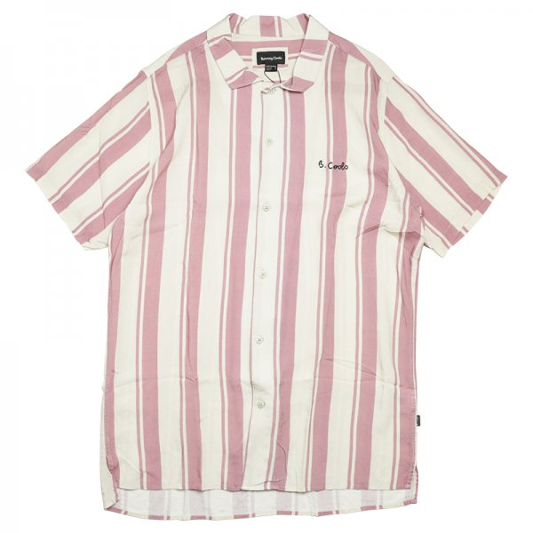 HOLIDAY CAMP-COLLAR SHIRT - Rose Stripe