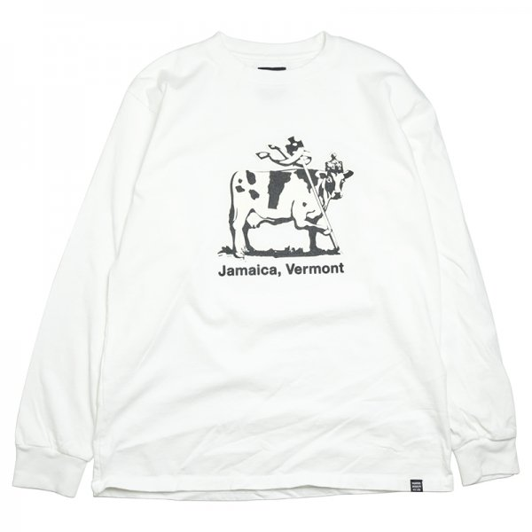 JAMAICA COW L/S TEE - White