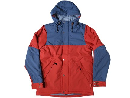 THE SCOUT JACKET - RED/OCEAN