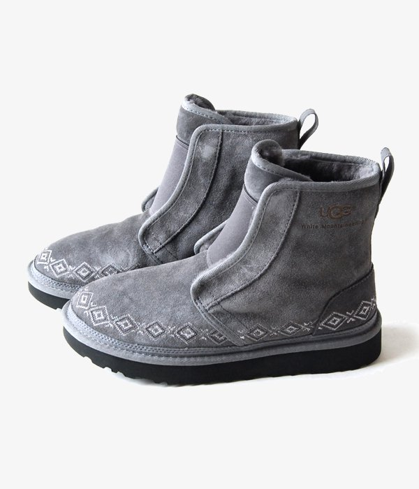 f9f2b525e5df White Mountaineering(ホワイト マウンテニアリング) WM × UGG EMBROIDERED FRONT GORE BOOTS  MENS (GRAY)