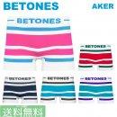 BETONES ビトーンズ /  メンズ ボクサーパンツ トランクス AKER ボーダー 【メール便で送料無料】