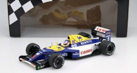 ミニチャンプス 186920005 1/18 ウイリアムズ ルノー FW14B #5 N,マンセル ワールドチャンピオン 1992