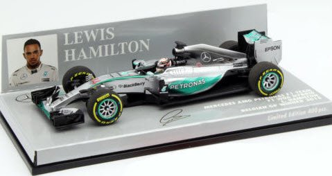 ミニチャンプス 417150244 1/43 メルセデス AMG ペトロナス F1チーム W06 #44 ハイブリッド L.ハミルトン ベルギーGP 2015 ウィ…