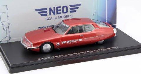 NEO NEO46605 1/43 シトロエン SM 1987 メタリックダークレッド