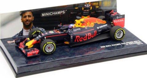 ミニチャンプス 417160003 1/43 レッド ブル レーシング タグホイヤー RB12 ダニエル・リカルド 2016