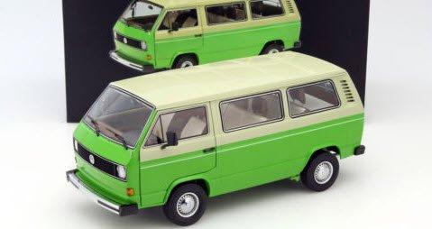 シュコー 450038000 1/18 VW T3 バス ベージュ/グリーン