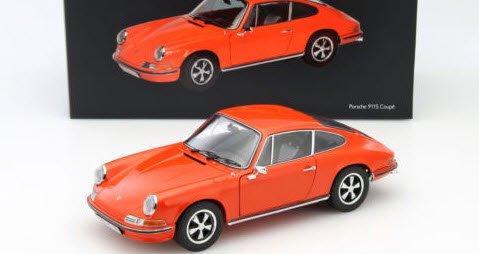 シュコー 450035300 1/18 ポルシェ 911 S 2.4 クーペ オレンジ