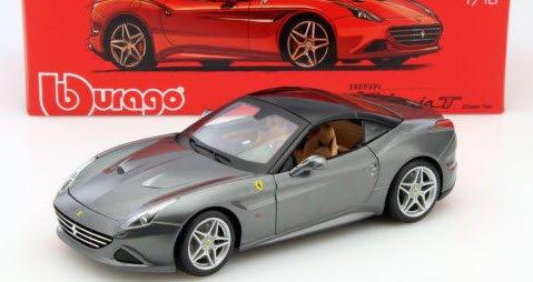 ブラーゴ Bburago Signature 15616902GY 1/18 フェラーリ カリフォルニア T クローズドトップ グレイ