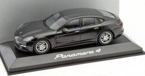 Herpa WAP0207100G 1/43 ポルシェ パナメーラ 4 ブラック ポルシェ特注品