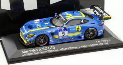 ミニチャンプス 437163009 1/43 メルセデスベンツ AMG GT3 24H ニュルブルクリング 2016