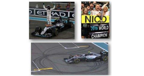 スパーク S5025 1/43 メルセデス F1 W07 Hybrid No.6 2nd アブダビ GP 2016 Nico Rosberg - World Champion 20…