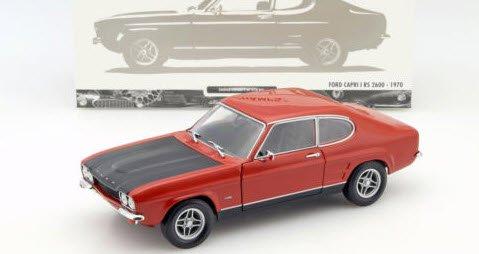 ミニチャンプス 150089076 1/18 フォード カプリ RS 2600 1970 レッド / ブラック