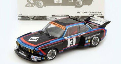 ミニチャンプス 180762003 1/18 BMW 3.5 CSL Gr.5 #3 DE FIERLANT/GROHS 6h シルバーストーン 1976
