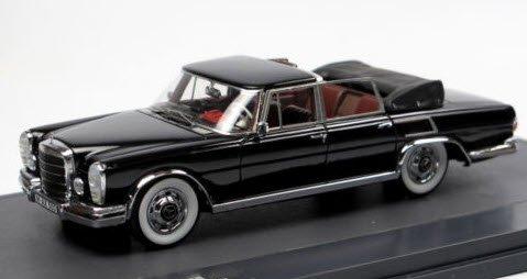 MATRIX MX51302-101 1/43 メルセデス・ベンツ 600 SWB ランドーレ Graf von Berckheim 1970 ブラック