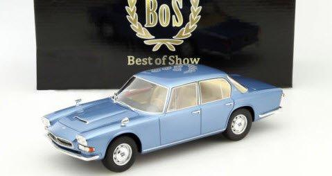 BoS Models BOS170 1/18 マセラティ クワトロポルテ 1966 ブルー