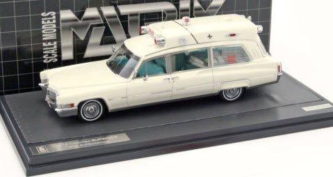 MATRIX MX20301-192 1/43 キャデラック スーペリアー 51+救急車 1970 ホワイト